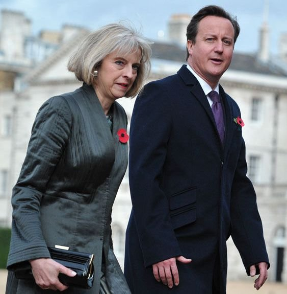 Theresa May and David Cameron