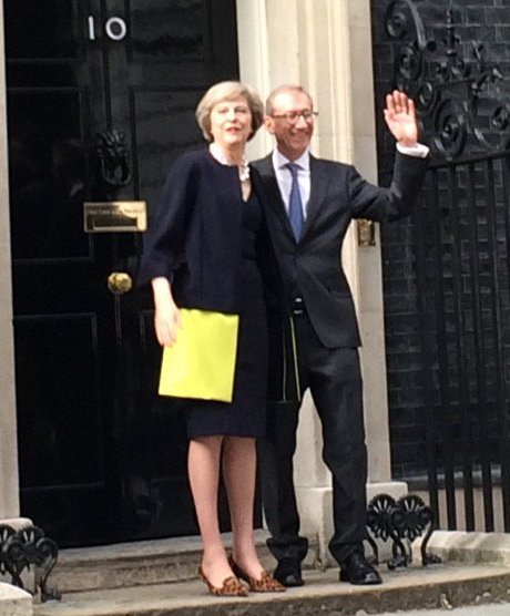 Theresa May and her husband - Phillip