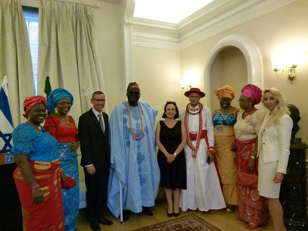 A colourful display of Nigerian fashion at the Israel Embassy