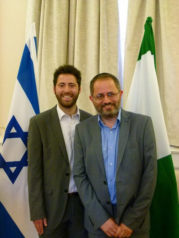 A warm welcome to the Israel Embassy