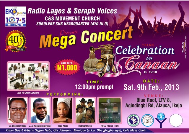 Ayo Ni O Choir holds mega concert