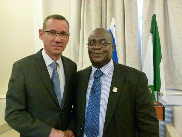Ambassador Regev and Cllr Ade Aminu