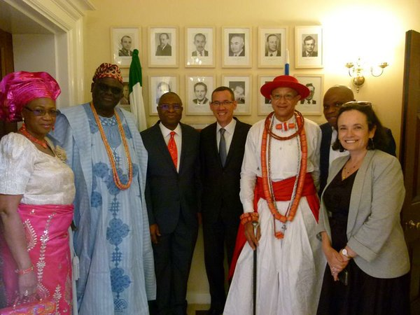 Guests of the Israel Embassy including Pastor Tunji Adebayo (2nd from right)