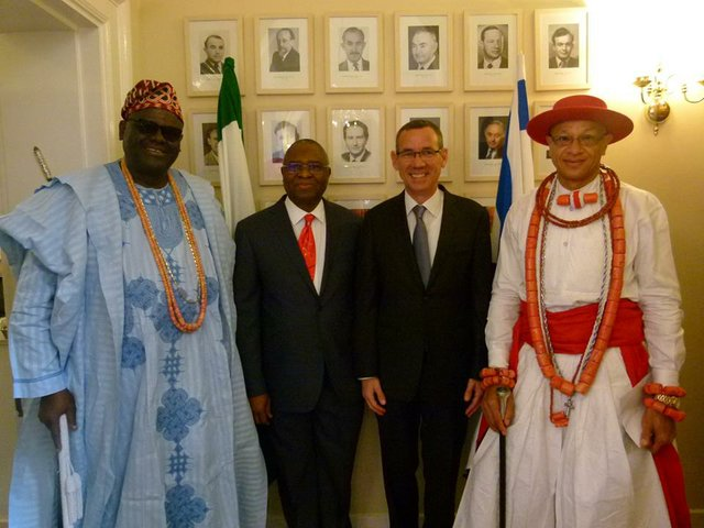 Oba Osiberu, Mr Ogah, Israel Ambassador and Chief Richmond MacGray.jpg