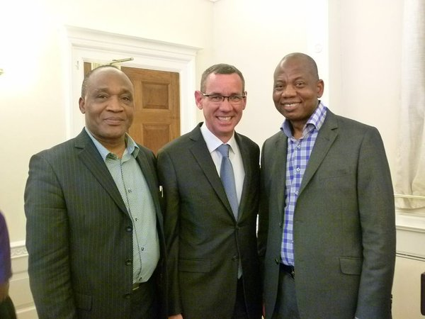 Pastor Dr Bankole (left) and guests at the Embassy.jpg