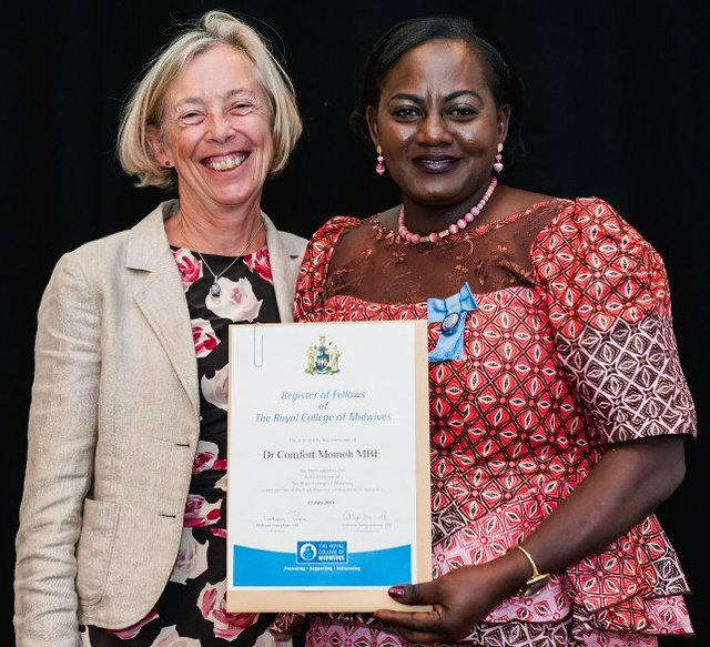 Comfort Momoh from Guys and St. Thomas NHS Trust @GSTTnhs receives national midwifery honour for #FGM work