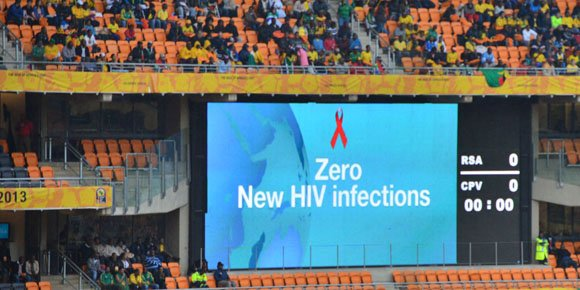 Message on AFCON electronic scoreboard