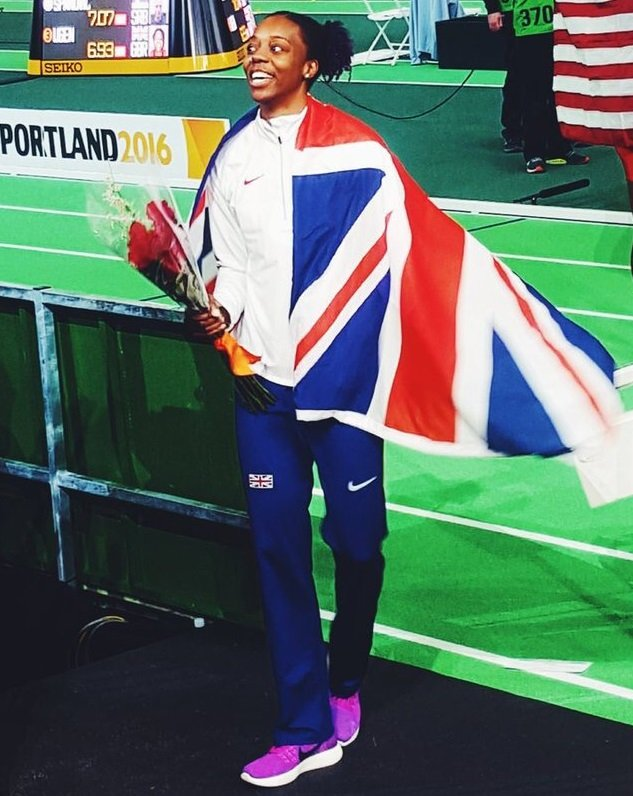 Lorraine won a bronze medal at the World Indoor Championships in Portland, USA
