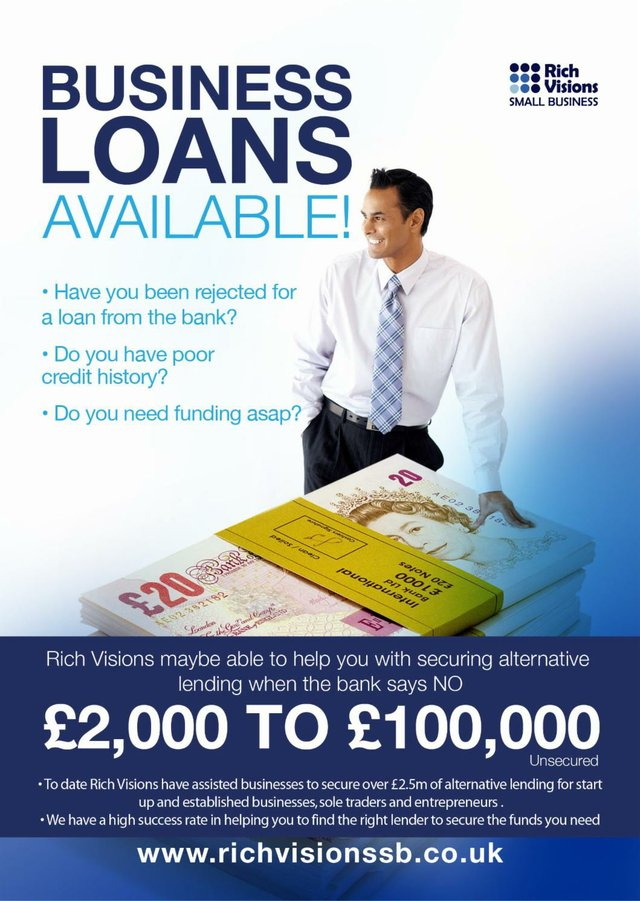 Business Loans Rich Visions Small Business Aug16