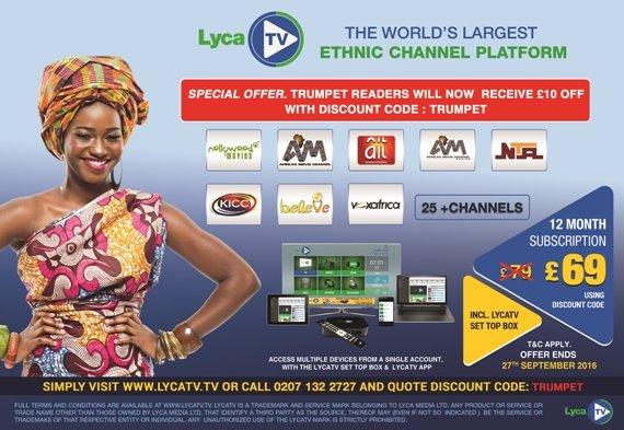 Lyca TV editorial image