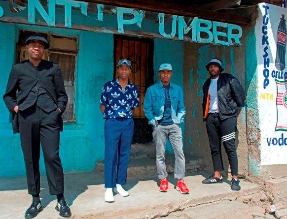 Johannesburg - The Sartists (Wanda Lephoto, Xzavier Zulu, Kabelo Kungwane and Andile Buka).