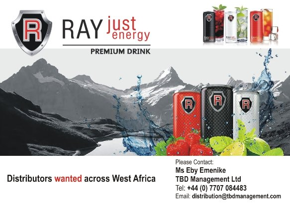 RAY Just Energy Drink Advert