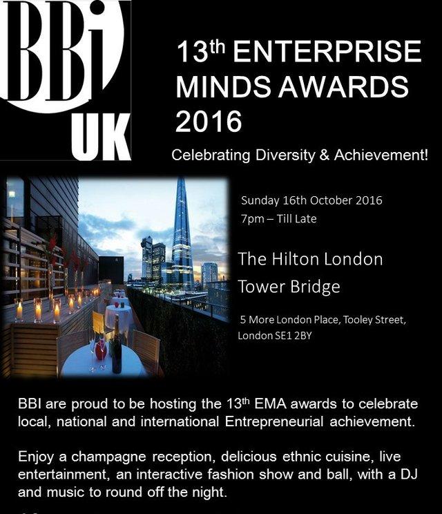 Enterprise Minds Awards (EMA) 2016 flyer
