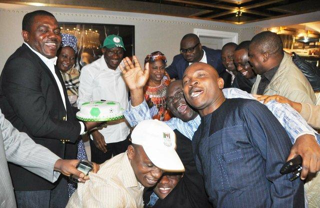 Jonathan congratulates Super Eagles