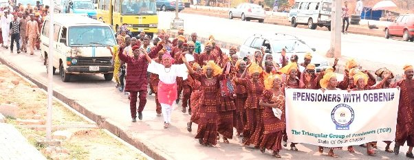 State of Osun Pensioners with Ogbeni