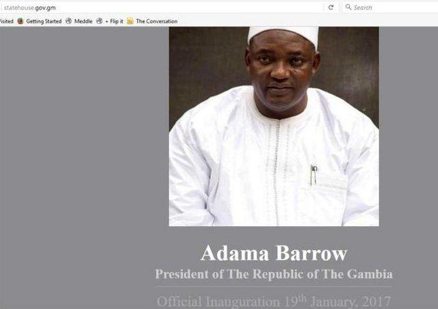 Gambia State House Website screenshot