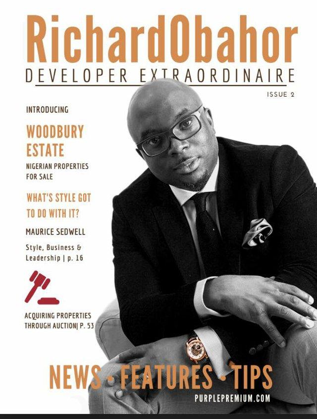 Issue 2 of RichardObahor magazine was made public during the launch of Woodbury Estate.jpg