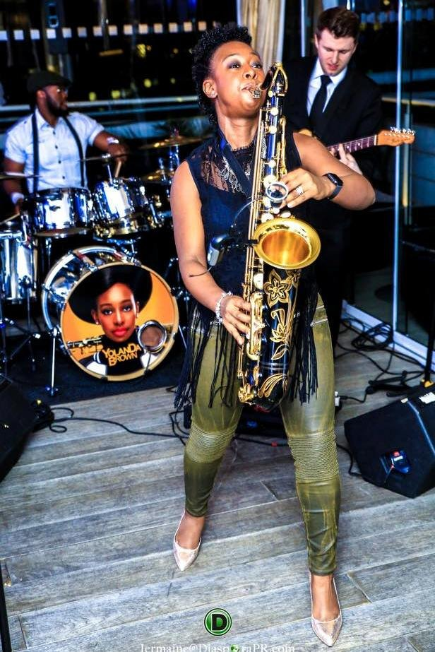 Jazz Saxophonist Yolanda Brown entertained guests.jpg