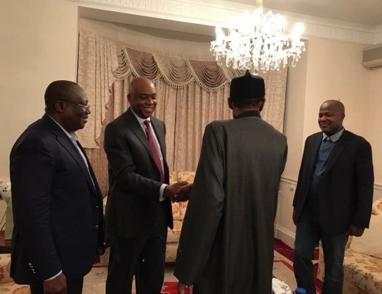Lawmakers Saraki, Dogara and Lawan visit Buhari in London