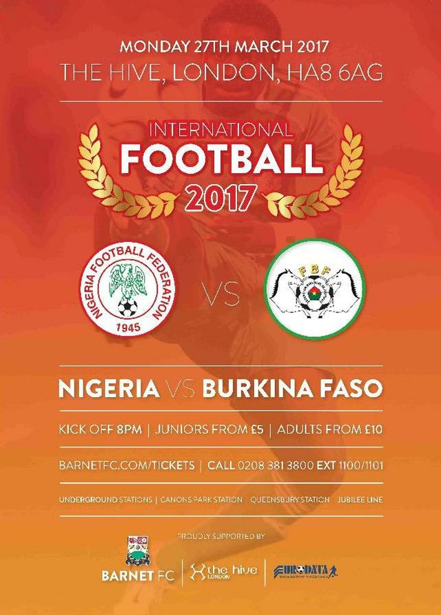 Nigeria VS Burkina Faso 270317