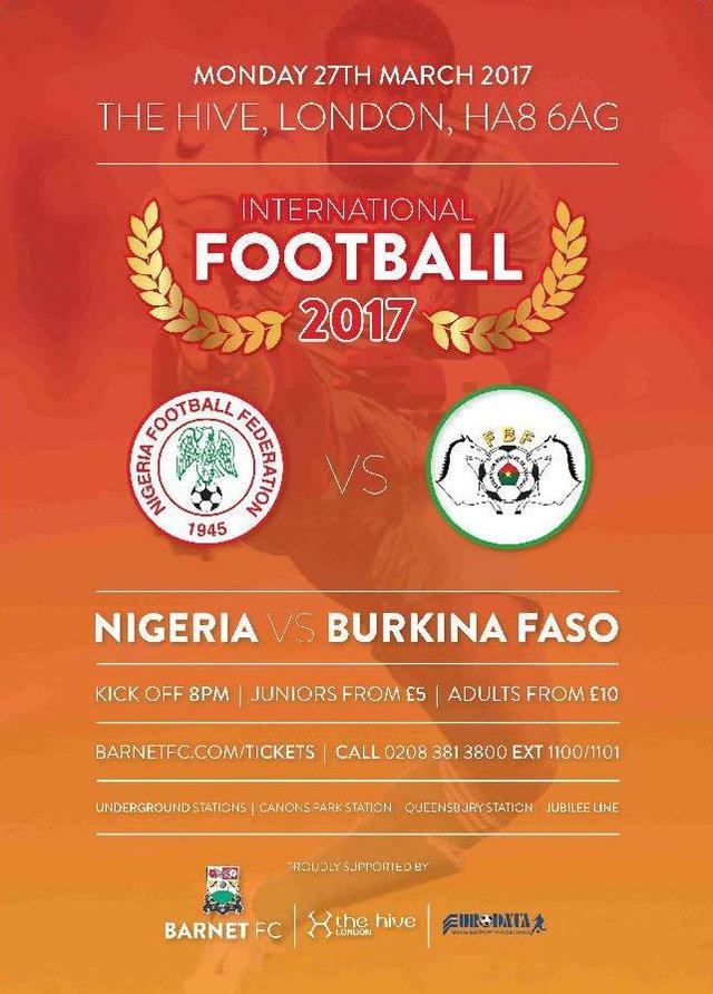 Nigeria VS Burkina Faso 270317