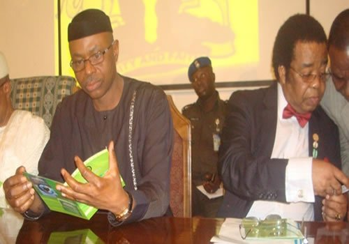 Dr Mimiko and Prof Akinyemi at the Inauguration Lecture