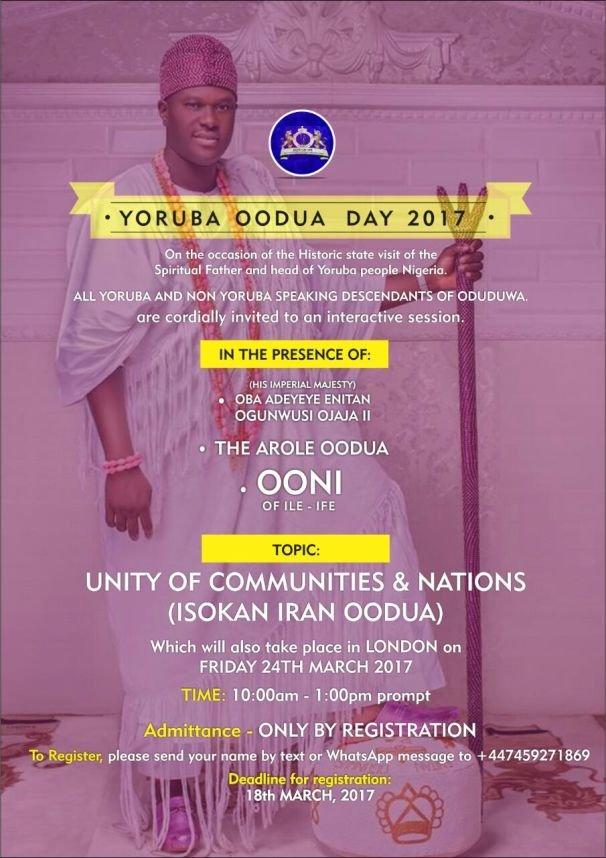 Yoruba Oodua Day 2017