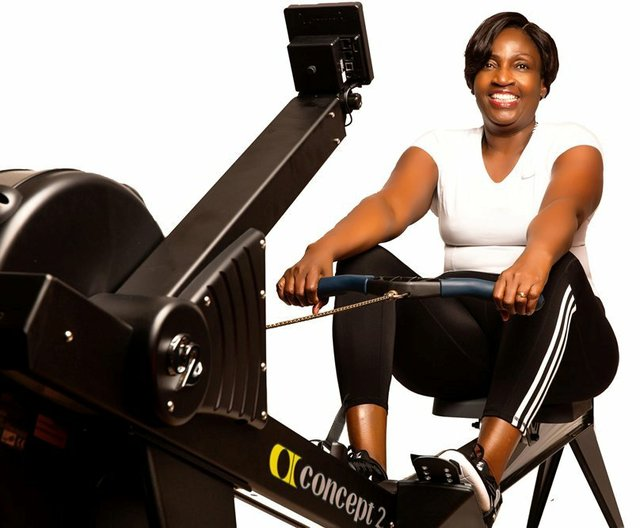 Rev Ajayi - exercising with a smile