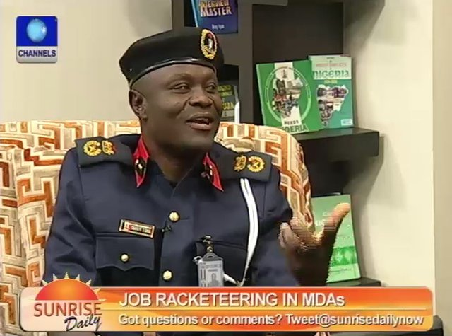 Mr Obafaiye Shem - Lagos State Commandant of the Nigeria Security and Civil Defence Corps.