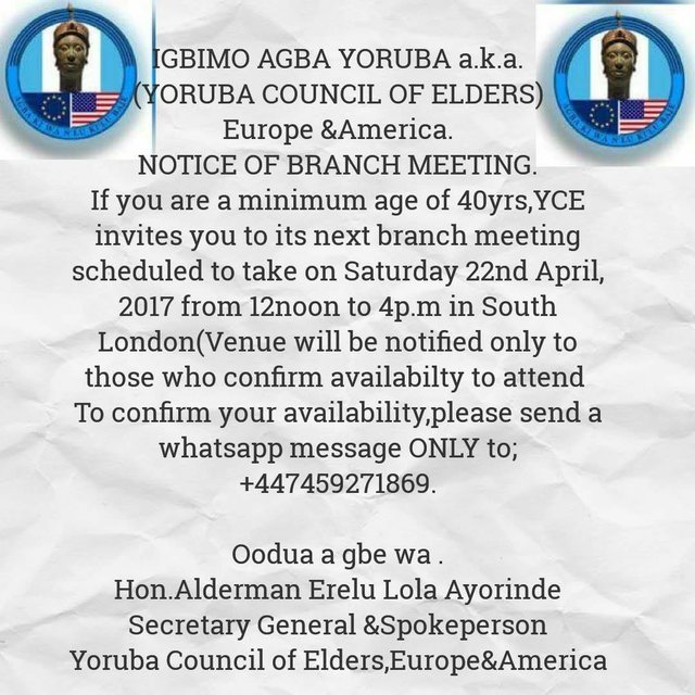 Yoruba Council of Elders meeting 220417
