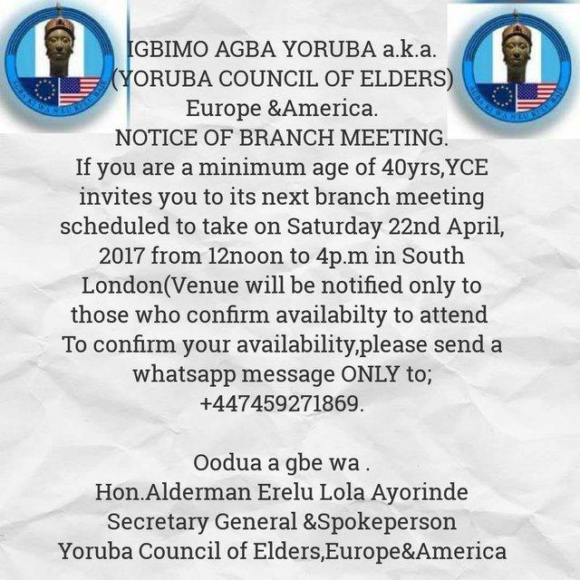 Yoruba Council of Elders meeting 220417
