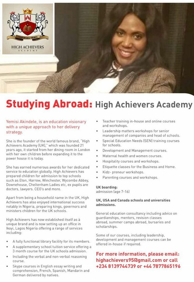 High Achievers Academy - Studying Abroad