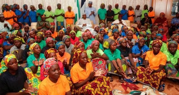 Buhari and the 82 rescued Chibok Girls