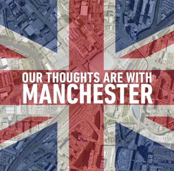 Our thoughts are with Manchester