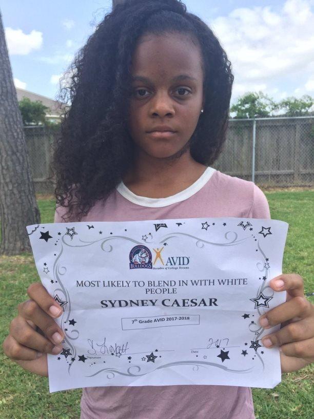 Sydney's certificate