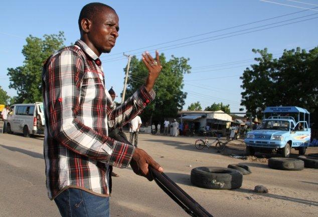 CJTF roadblock (Credits - Obi Anyadike - IRIN)