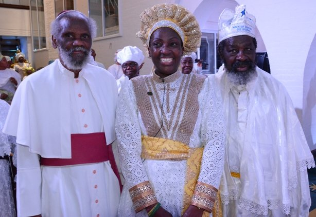 A cross-section of UK-based Leaders of the C&S Church - Most Rev Dr Olu Abiola (OBE), Rev Mother Esther Ajayi and Superintendent General Apostle Amusan