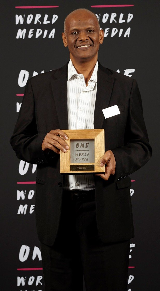Fathi Osman of Radio Erena - recipient of the Special Award at the One World Media Awards
