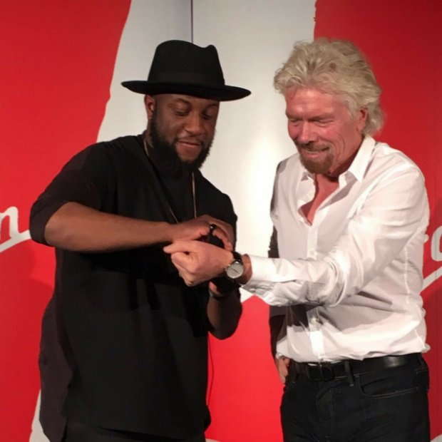 William Adoasi and Richard Branson