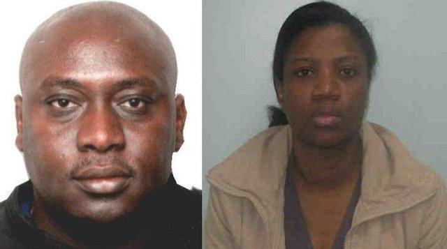 On the run - Stephen Odeyemi and his wife Oluwatumininu Banjo