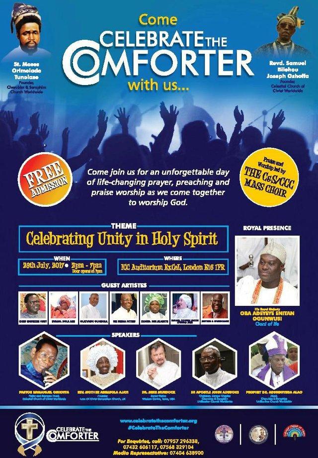 Come Celebrate The Comforter