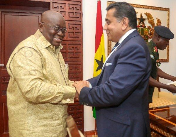 Lord Tariq Ahmad meets with Ghana's President Nana Akufo-Addo