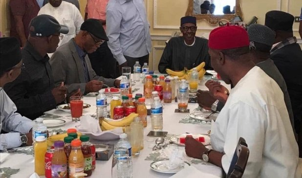 Lunch in London with Buhari