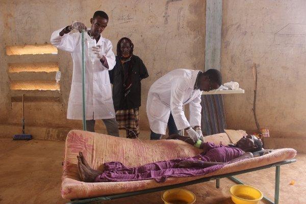 Cholera treatment centre.