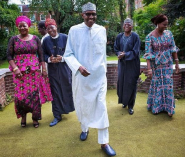 Buhari's reunion with his media team during a recent visit to him in London