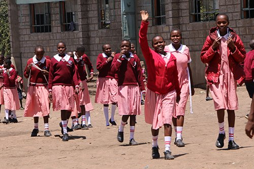 Girls at Naikarra Primary School in Narok County. In recent times, the school has witnessed a surge of girls seeking refuge at the school escaping from FGM and child marriage.