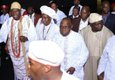 The Ooni of Ife, Chief Olusegun Obasanjo and Prince Olagunsoye Oyinlola arriving at the event.jpg