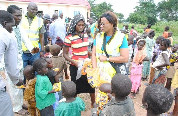 Counsellor Funmi Ademilua at an IDP camp