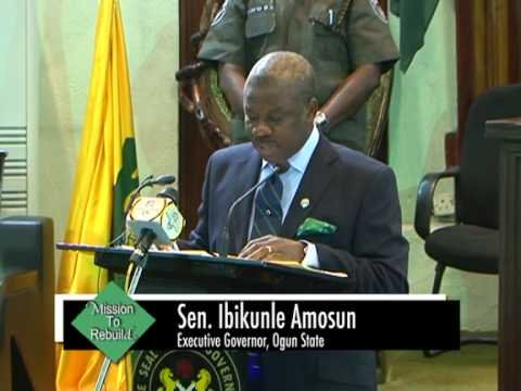 Amosun presents Budget 2013 to the Ogun State House of Assembly