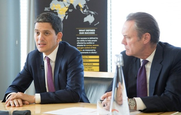 David Miliband and Jim Cowles